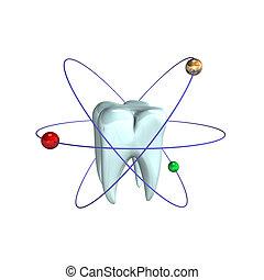 atomar, zahn
