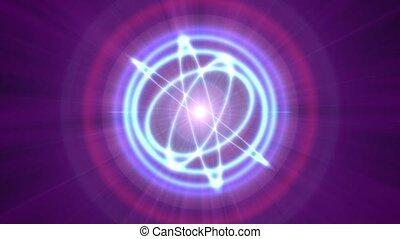 atome, rayon, résumé, orbite, 4k, lumière