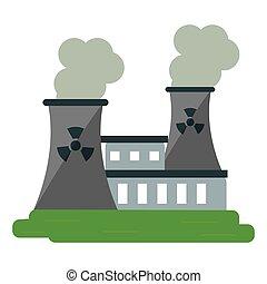 atomenergien, station, magt, forurening