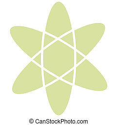 Atomic Atom Retro Vintage Clip Art