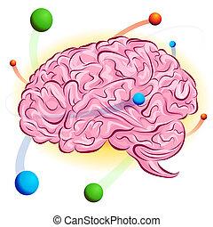 Atomic Brain - An image of a atomic brain.