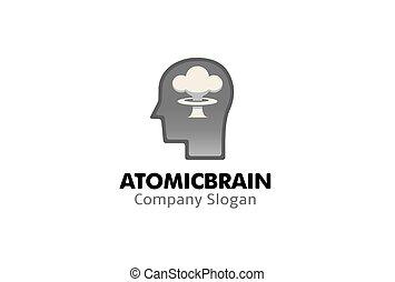 Atomic Brain Design Logo