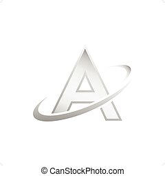Atomic concept icon, 3d isolated on white vector,...