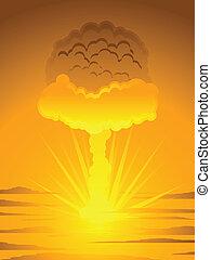 Atomic mushroom cloud - Mushroom cloud generated by the...