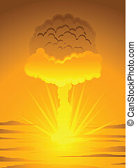 Atomic mushroom cloud - Mushroom cloud generated by the...