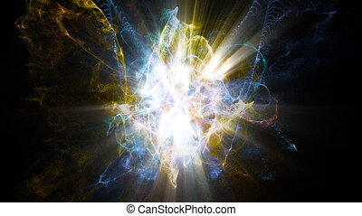 Light FX2221: Atomic particles collide, spin and shine (Loop).
