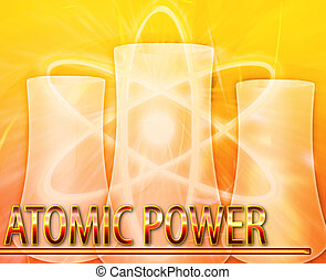 Atomic power Abstract concept digital illustration