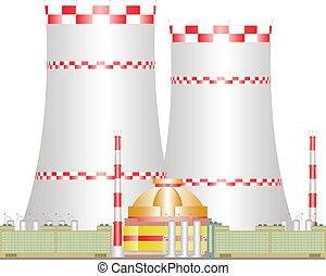 Atomic power station.