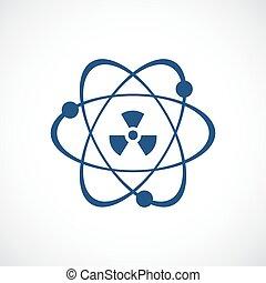 Atomic power vector icon