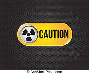 atomic signs over black background vector illustration
