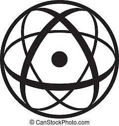 Atomic Symbol - Atomic sybol consisting of a nucleus in ...
