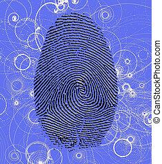 atomico, impronta digitale