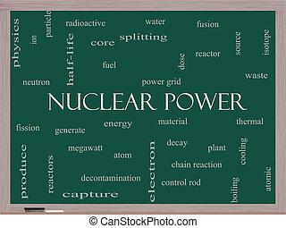 atomkraft, wort, wolke, begriff, auf, a, tafel
