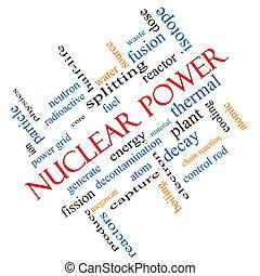 atomkraft, wort, wolke, begriff, winklig
