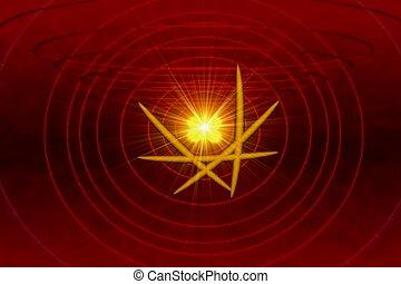 atomowy, jądrowy, symbol