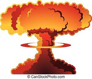atomrobbanás, gombafelhő