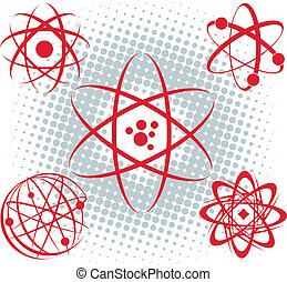 Atoms - A set of atomic symbols and icons