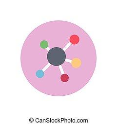 atoms  flat color icon