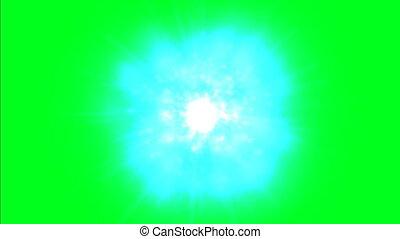 atoomenergie, op, groene, scherm