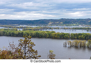 Atop Bluffs of Effigy Mounds at Iowa Border