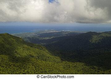 Atop El Yunque Overlooking Caribbean Coastline