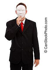 atrás de, homem máscara