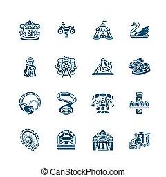 atração, ícones, |, micro, série