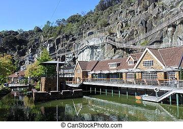 atracción, australia, launceston, penique, turista, real, tasmania