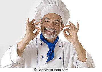 atractivo, cocinero