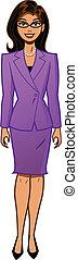 atractivo, mujer de negocios