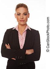 atractivo, mujer profesional