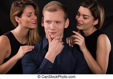 atractivo, mujeres, seducir, narcisista, hombre