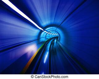 através, a, túnel