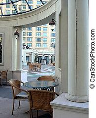 atrio, albergo, lusso, vista