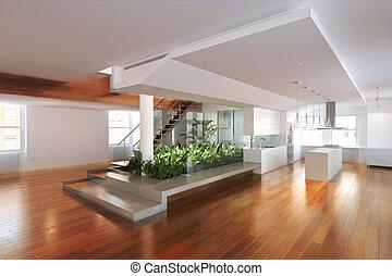 atrium, wohnsitz, zentrieren