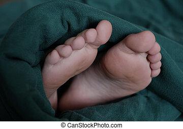 attacco, coperta, conforto, in pausa, piedi, fuori