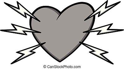 attacco cuore, illustrazione