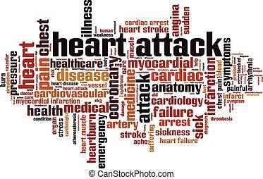 attacco cuore, parola, nuvola