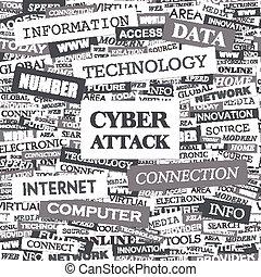 attacco, cyber