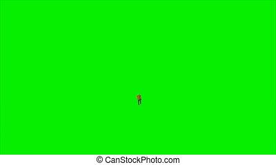 attaché, skateboard, jeune, contre, écran, mat, vert, 4k, caucasien, luma