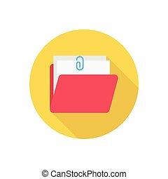 attach  flat color icon