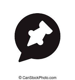 attach  glyph flat icon