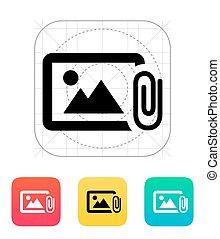 Attach photo icon.