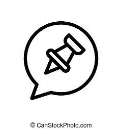 attach  thin line icon