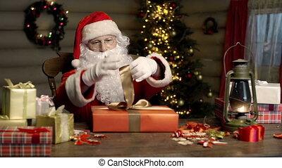 attachement, ruban, cadeau, paquet