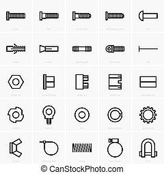 attaches, icônes