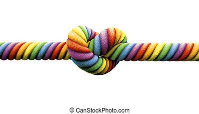 attachez noeud, gay, mariage