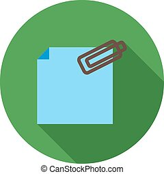 Attachment, business, web icon vector image. Can also be ...