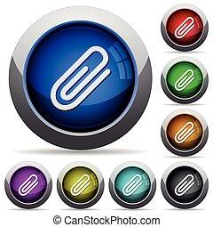 Attachment button set