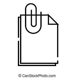 Attachment line icon, concept sign, outline vector illustration, linear symbol.